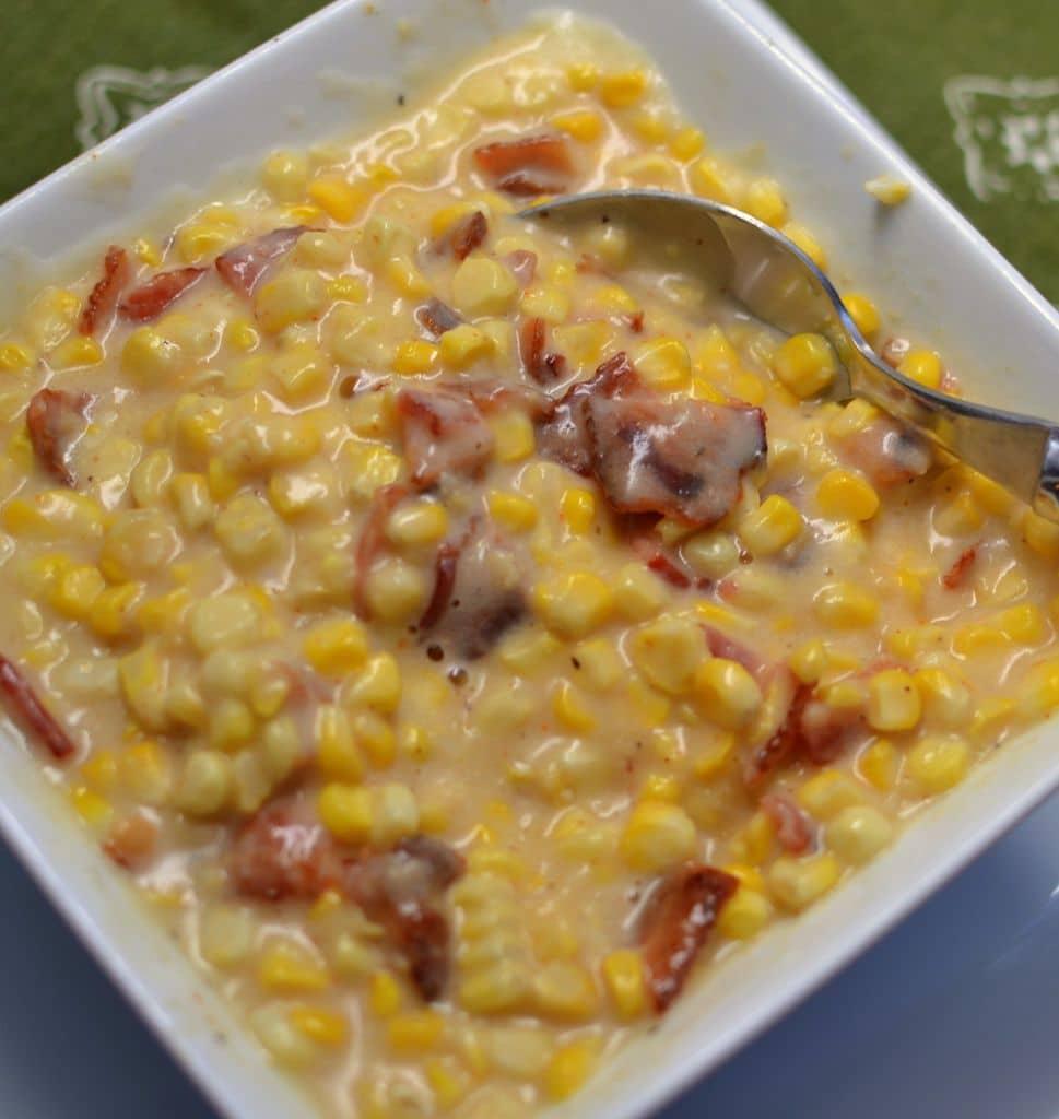 Sweet Creamed Bacon Corn