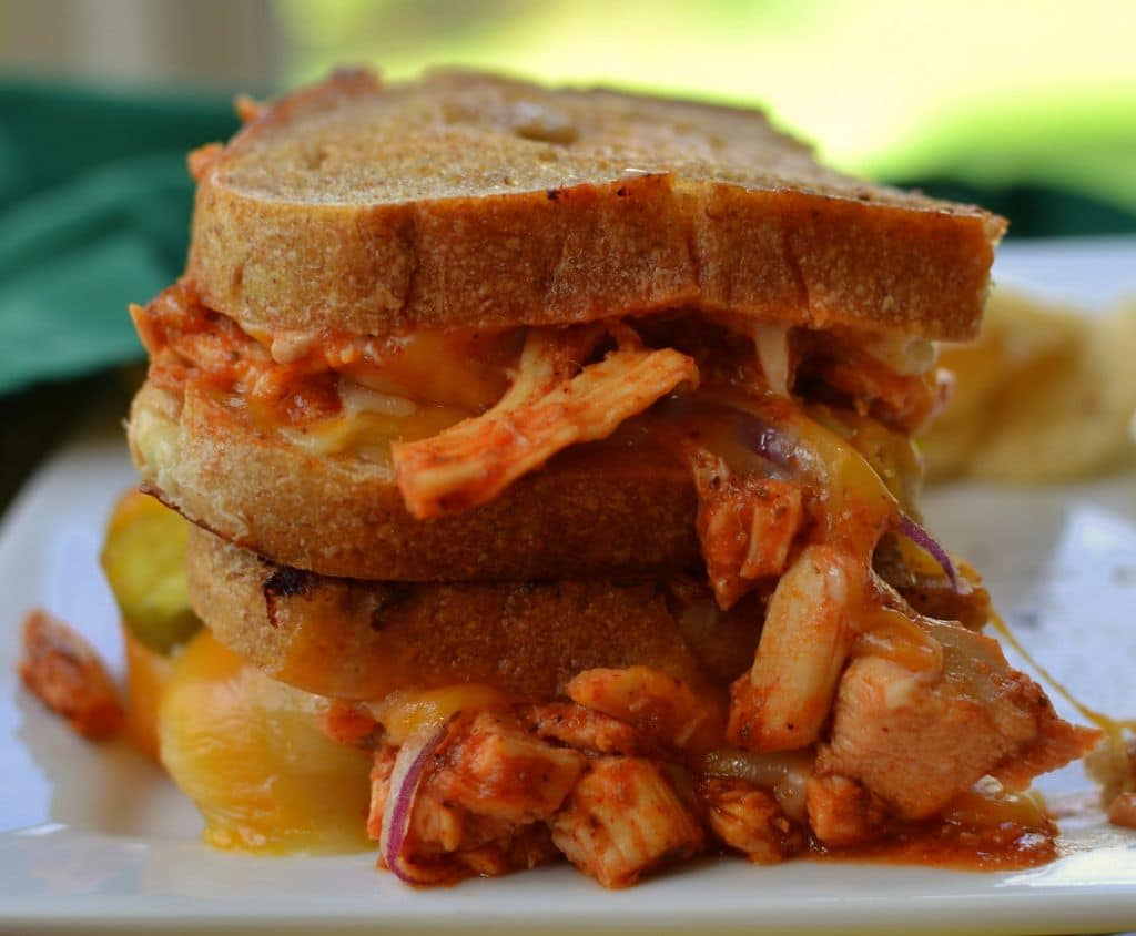 Barbecue Chicken Grilled Cheese (8)