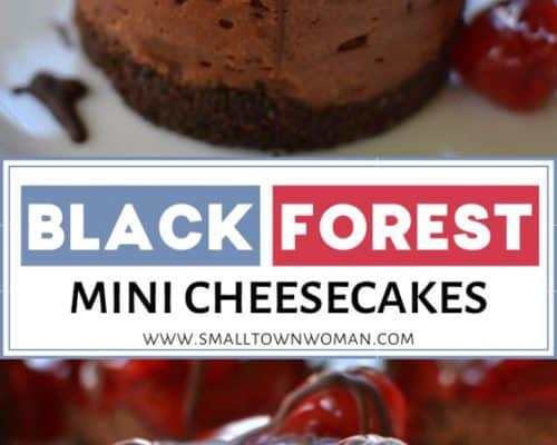 Black Forest Mini Cheesecakes