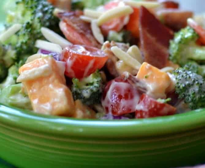 Broccoli Bacon Cheddar Salad