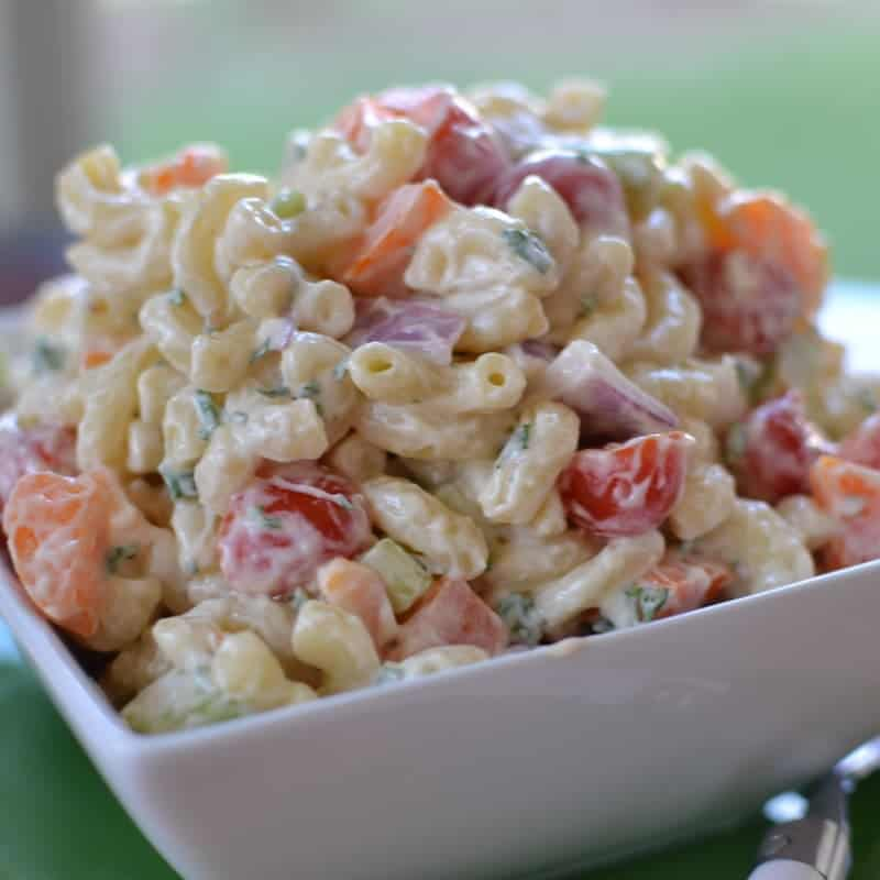This Creamy Macaroni Salad Is A Real Crowd Pleaser It Is Perfect For Your Next Patio Party But Simple Enough For A Week Night Dinner With Grilled Steak And