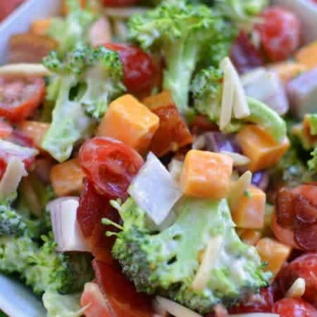 Broccoli Bacon Cheddar Salad