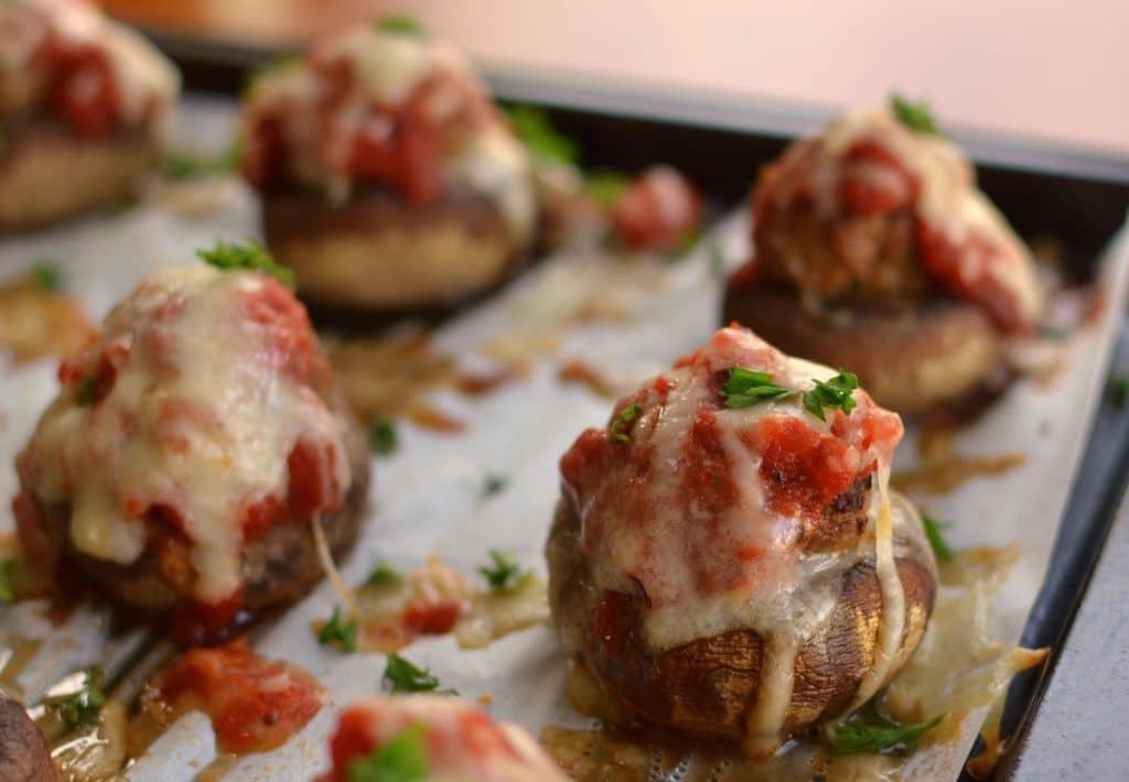 Meatball Stuffed Mushrooms (2)