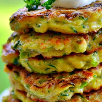 Crispy Cheesy Zucchini Fritters