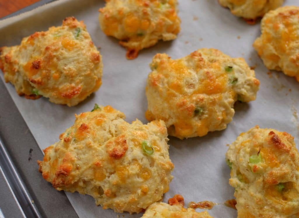 Cheddar Drop Biscuits with Chive Butter (2)