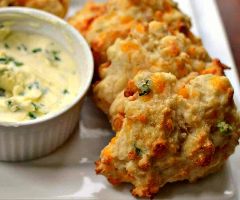 These delectable Cheddar Biscuits are just as delicious as Red Lobster cheddar bay biscuits without all the expense.