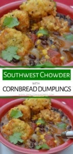 Southwest Chowder with Cornbread Dumplings