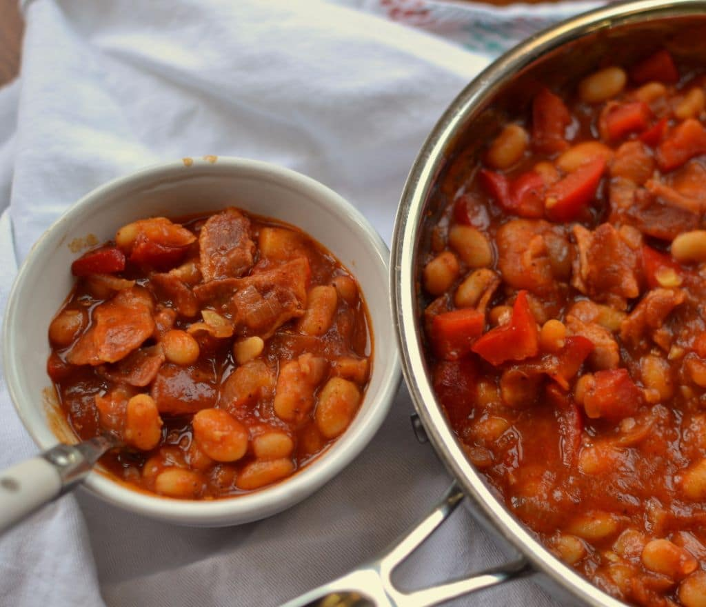 Baked Spicy Smoky White Beans | Small Town Woman
