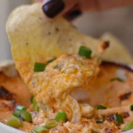 Creamy Ranch Buffalo Chicken Dip