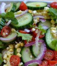 Cucumber Salad with Lime Vinaigrett