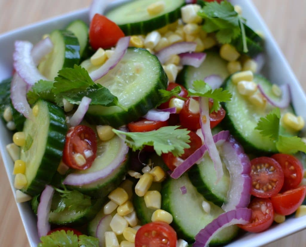 Cucumber Salad with Lime Vinaigrette (2)
