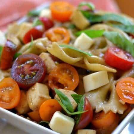 Caprese Heirloom Tomato Pasta Salad