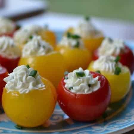 Herb Cream Cheese Stuffed Tomatoes