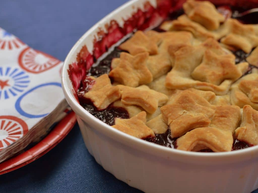 Strawberry Blueberry Blackberry Pie Cobbler