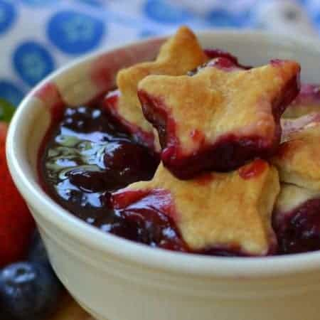 Strawberry Blueberry Blackberry Pie Cobbler