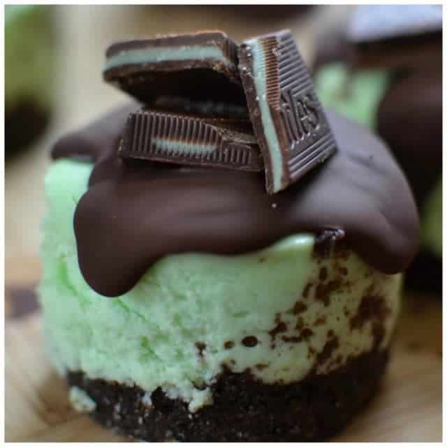 Cute amp diminutive! Andes Mint Mini Cheesecakes smalltownwomanfoodnut