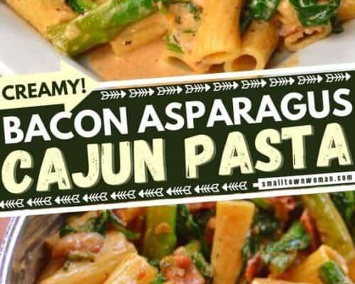 Bacon Asparagus Cajun Pasta