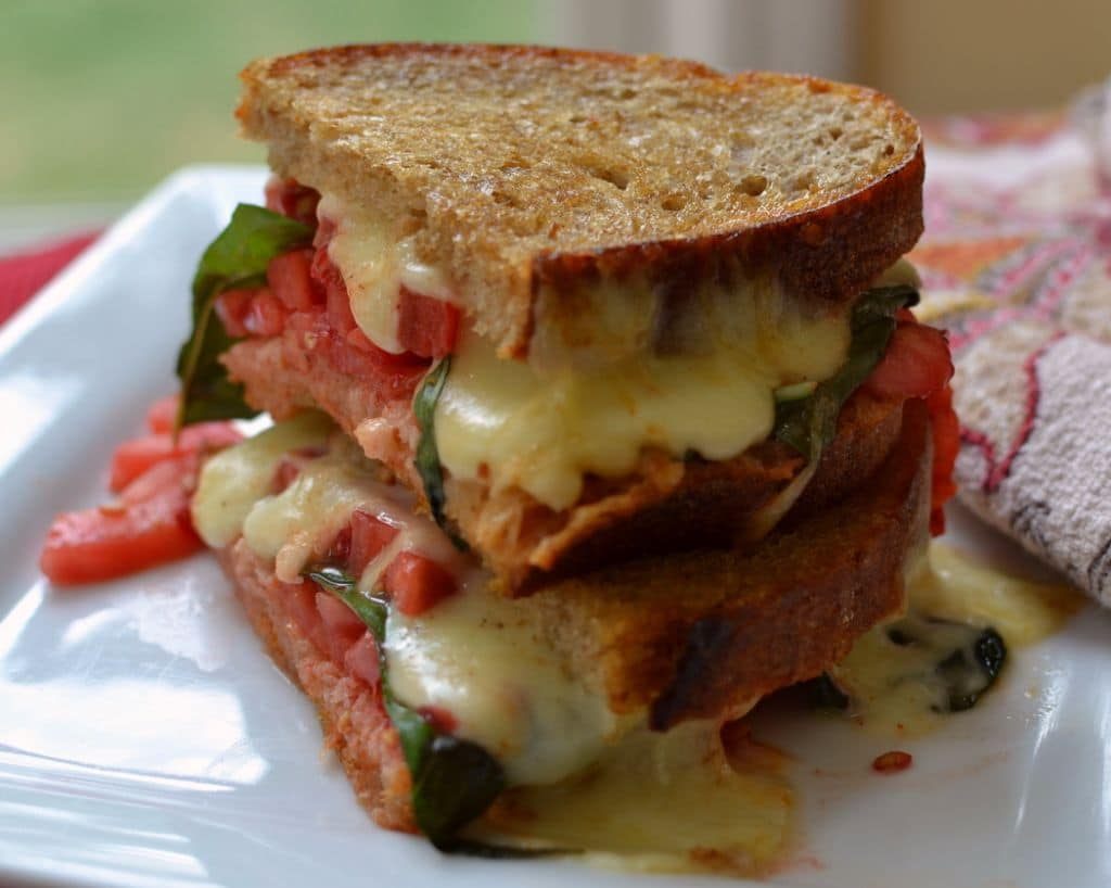 Caprese Grilled Cheese (3)
