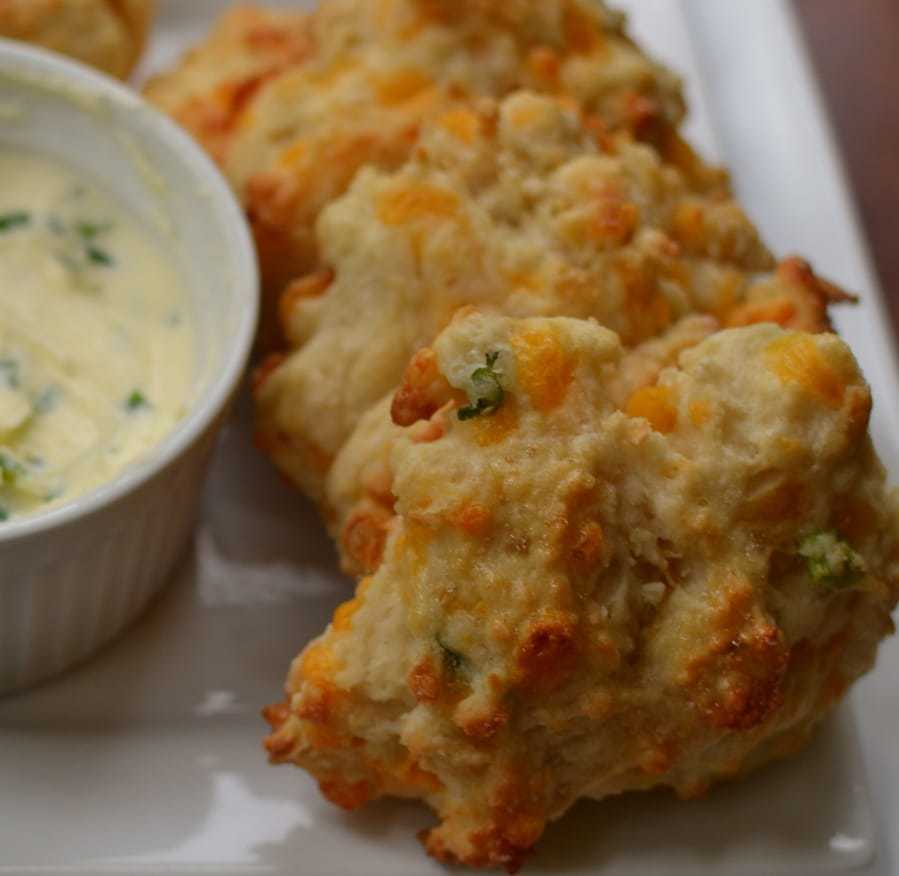 Cheddar Drop Biscuits with Chive Butter (8)