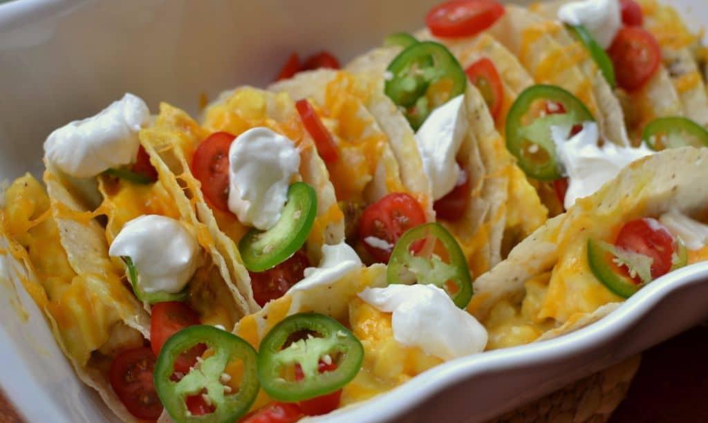 Cheesy Breakfast Tacos (8)