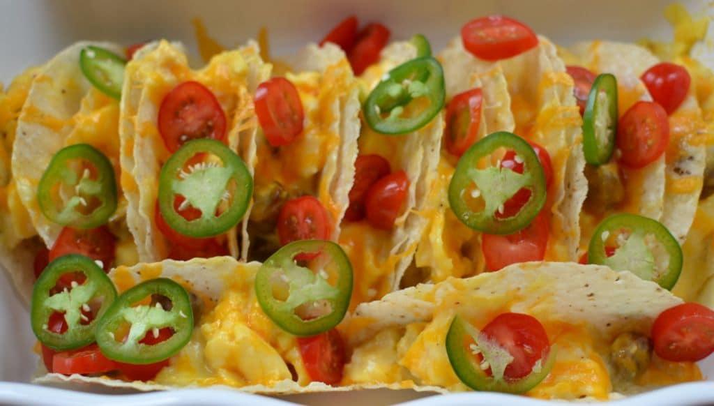 Cheesy Breakfast Tacos