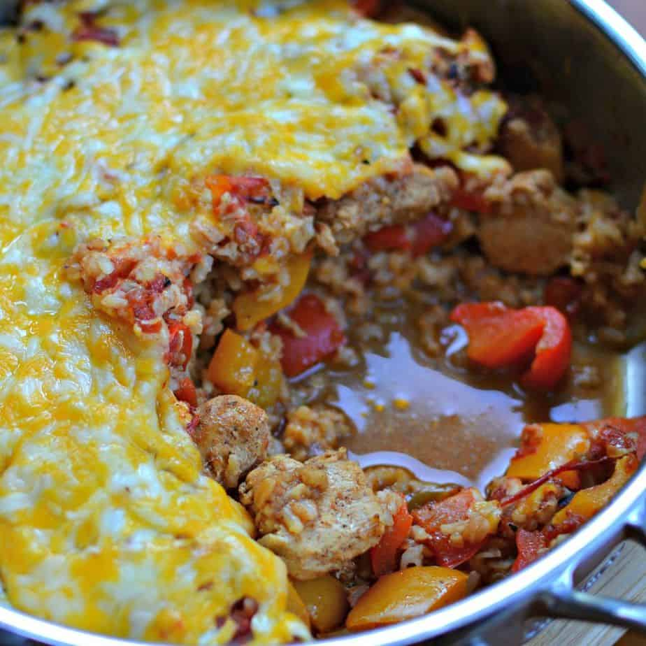 Chicken Fajita Casserole Rice