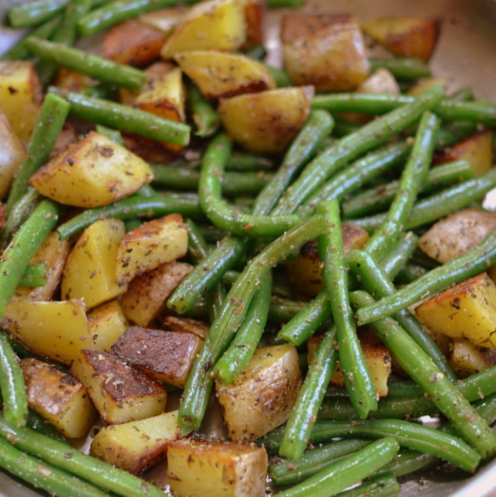 Fried Potatoes & Green Beans (11)