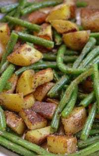 Fried Potatoes & Green Beans (9)