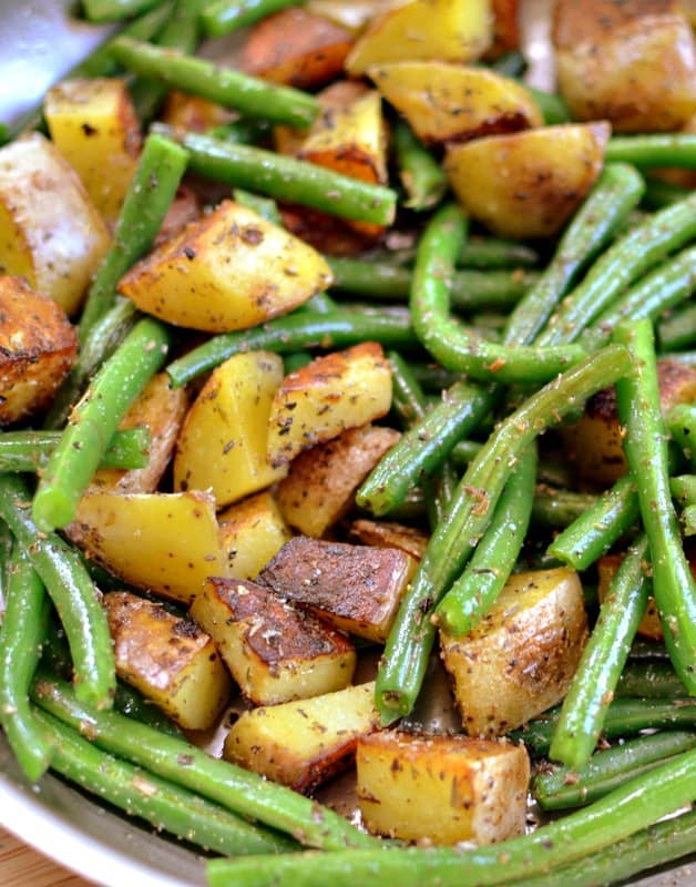 Pan Fried Potatoes And Green Beans Small Town Woman