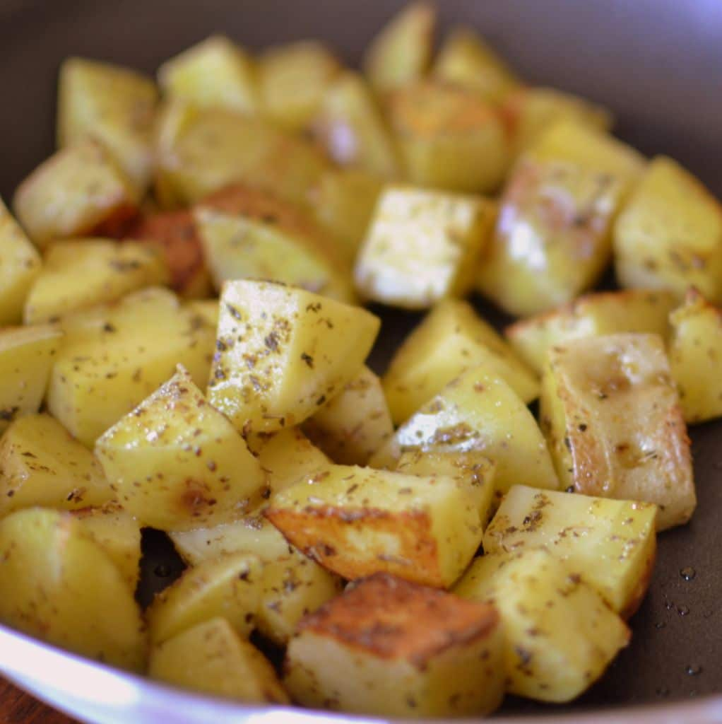 Pan Fried Potatoes and Green Beans (3)