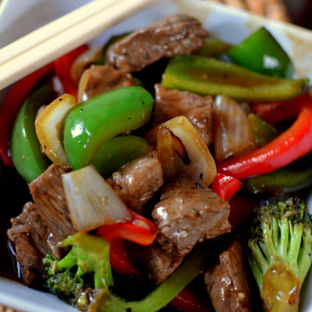 Spicy Beef & Pepper Stir Fry