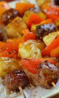 Teriyaki Chicken Meatball Skewers (4)