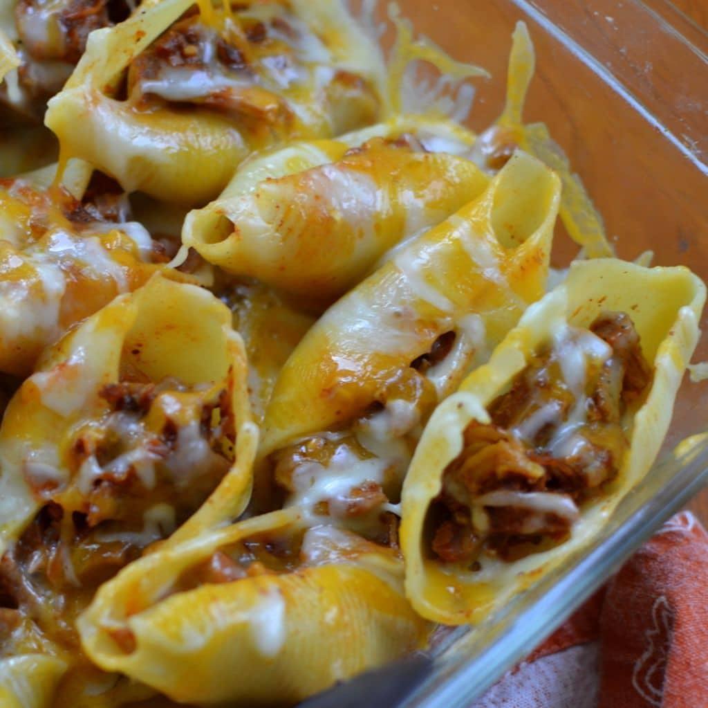 Triple Cheese Barbecue Pork Stuffed Shells (4)