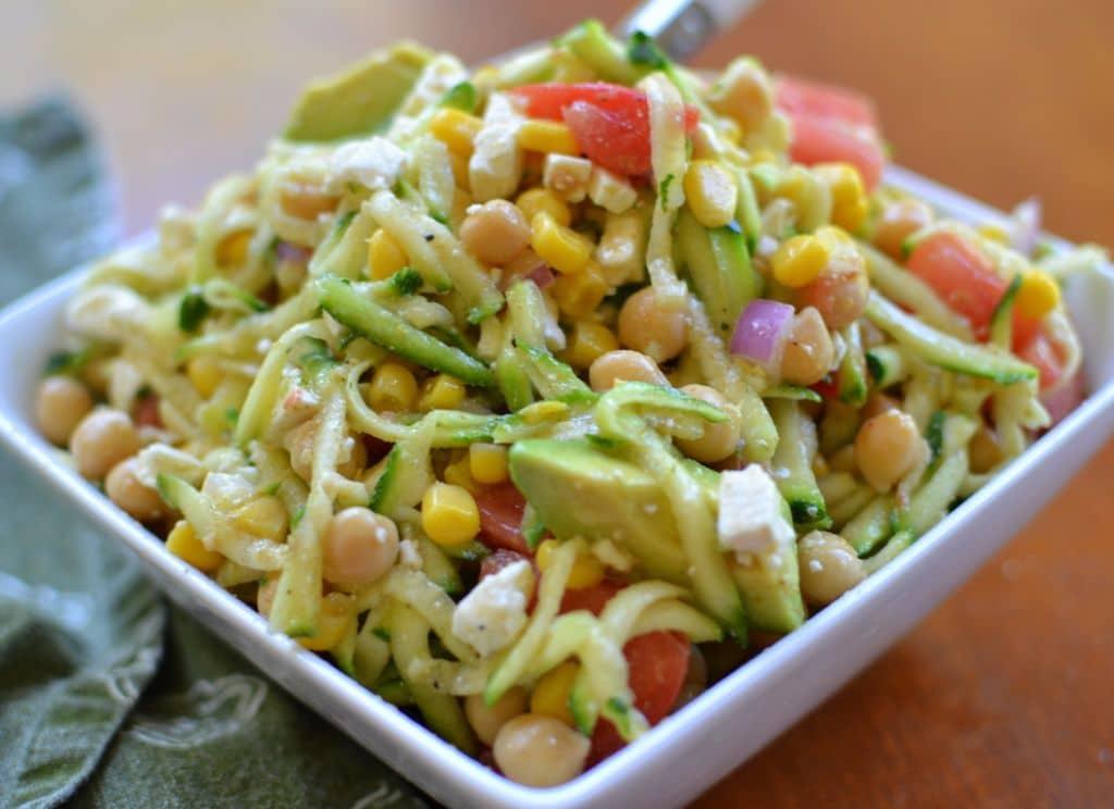 Zucchini Chickpea Avocado Salad (2)