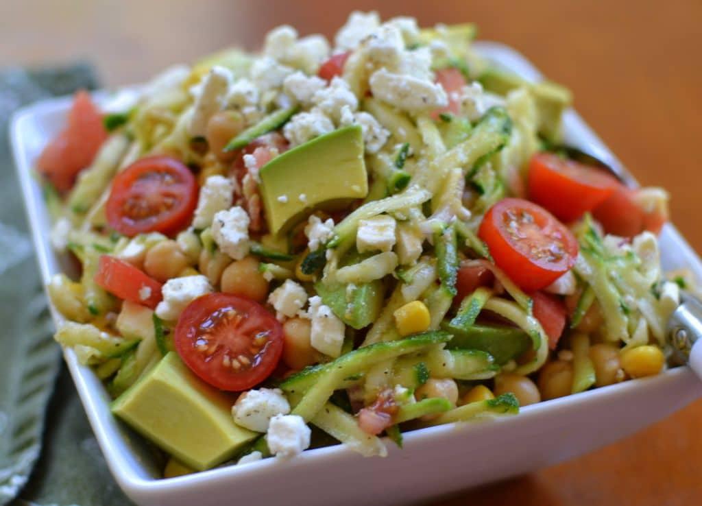 Zucchini Chickpea Avocado Salad (4)