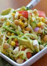 Zucchini Chickpea Avocado Salad (6)