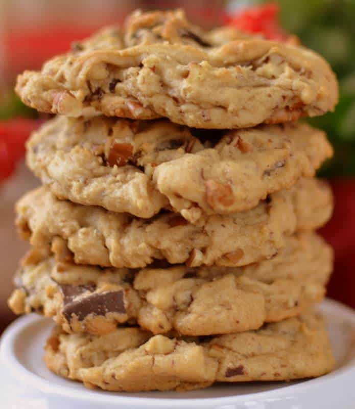 Triple Chocolate Chunk Cookies | Small Town Woman