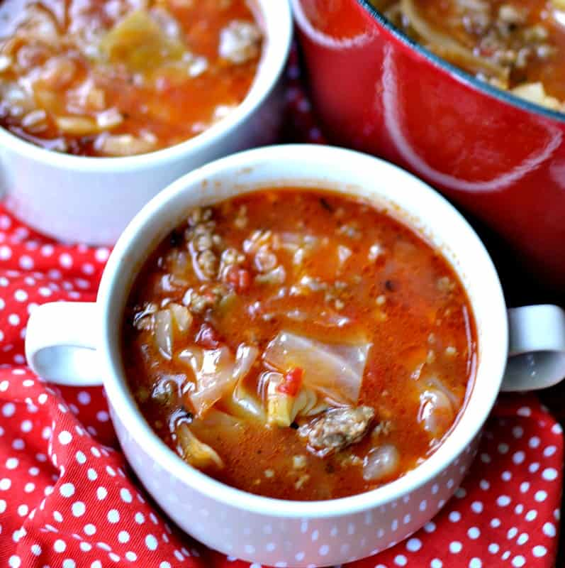 Love cabbage rolls but hate the work. Try this delectable easy soup.