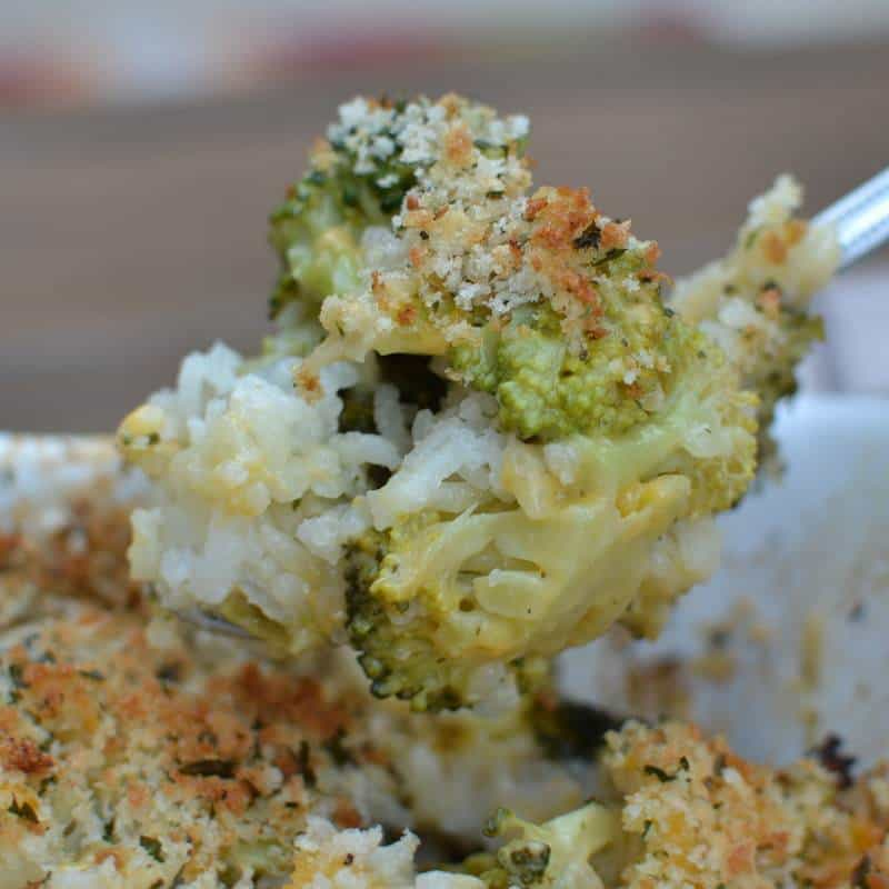 Cheesy Broccoli Rice Casserole (8)