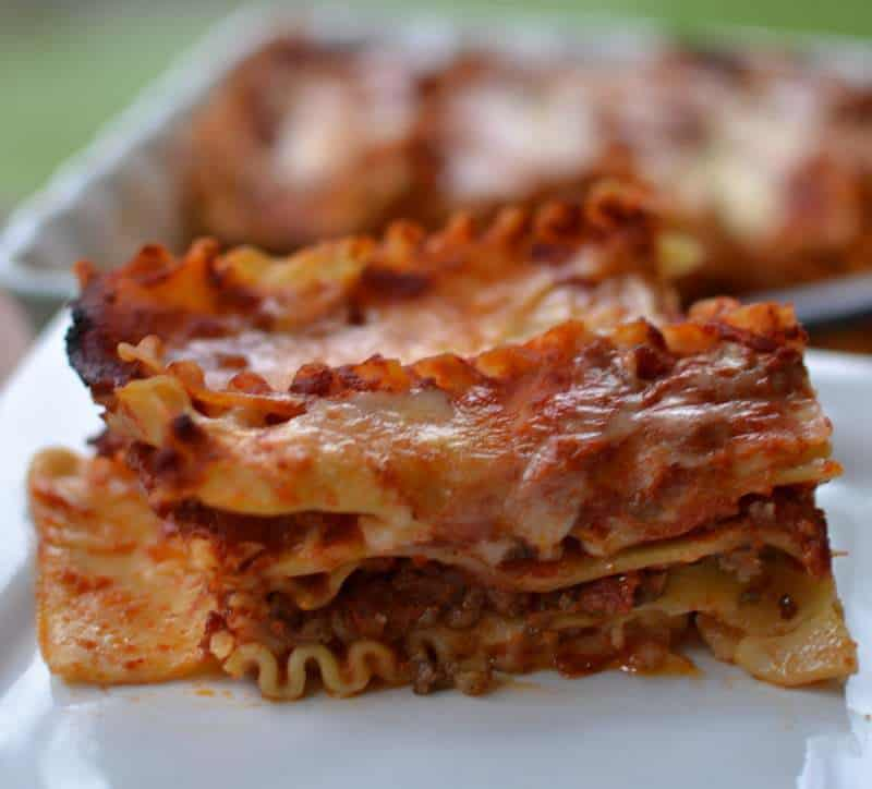 Italian Sausage Four Cheese Lasagna | Small Town Woman