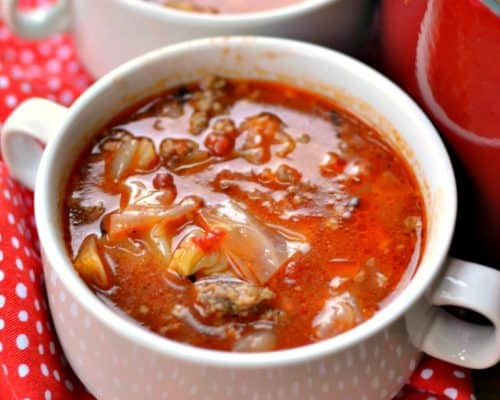Family Friendly Easy Cabbage Roll Soup