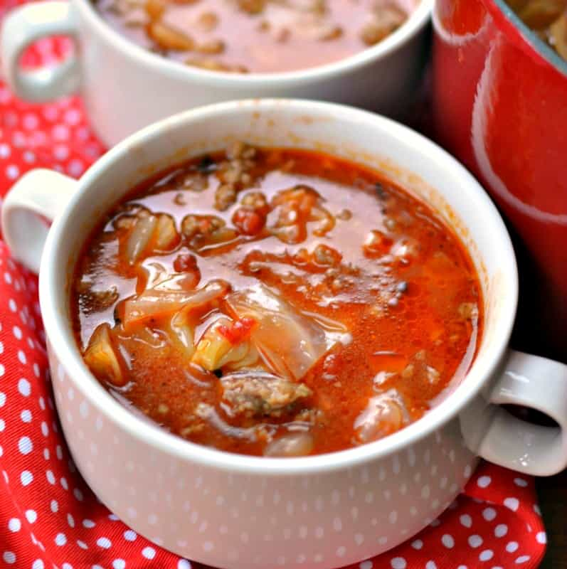 Cabbage Roll Soup takes everything you love about cabbage rolls and puts into one easy soup