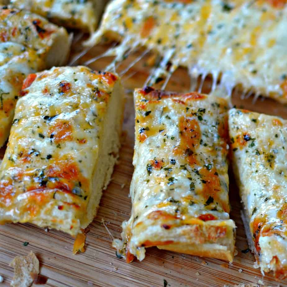 This super easy cheese bread is a family favorite and the kids just can't get enough of it.