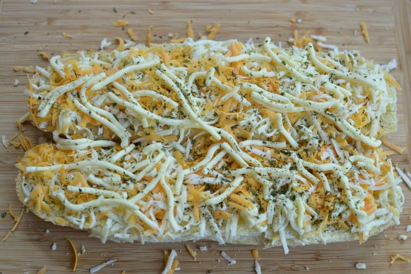 Triple Cheese Garlic Bread