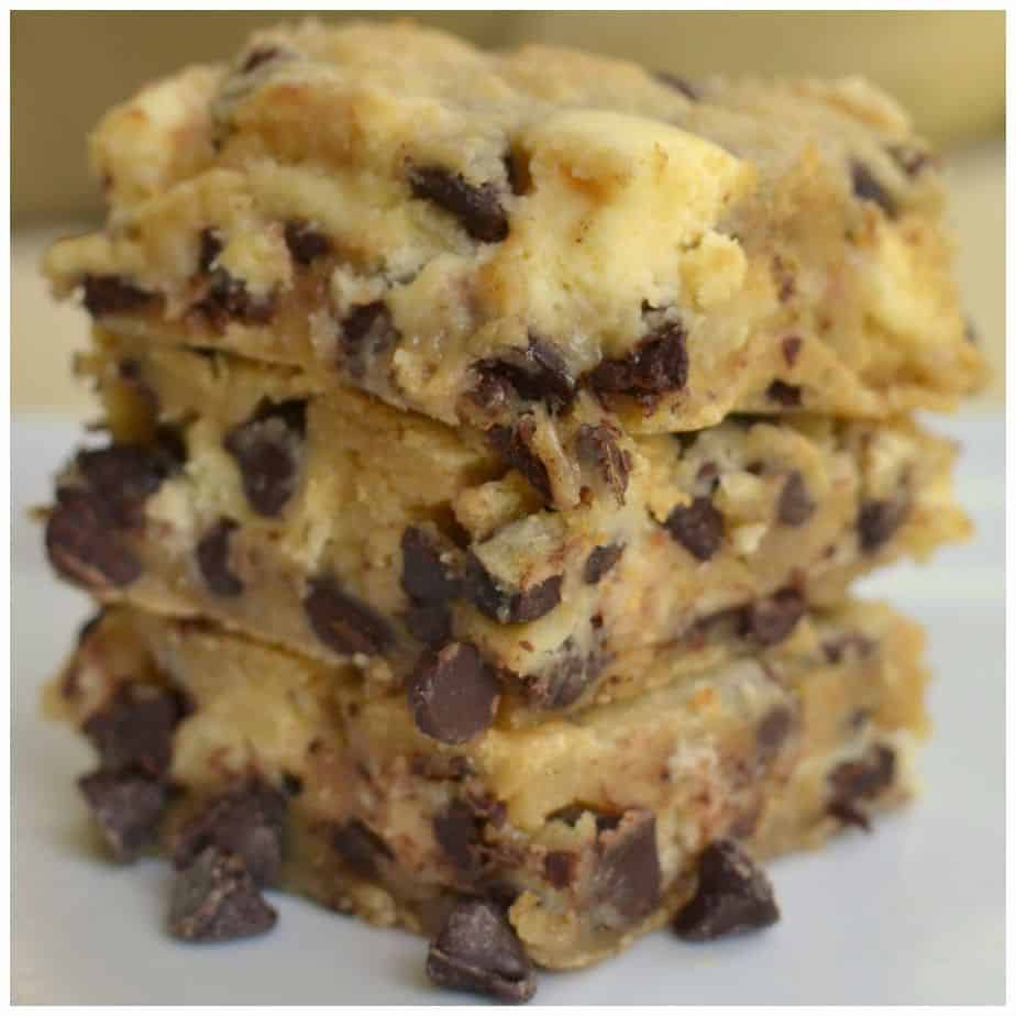 Chocolate Chip Cream Cheese Bars | Small Town Woman