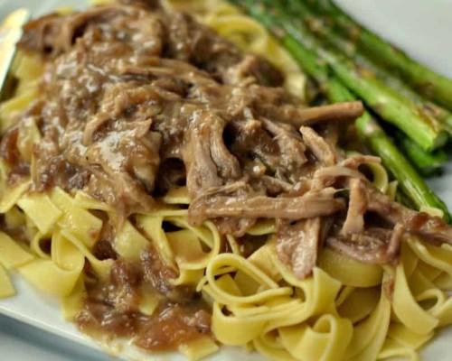 Crock Pot Pork and Noodles