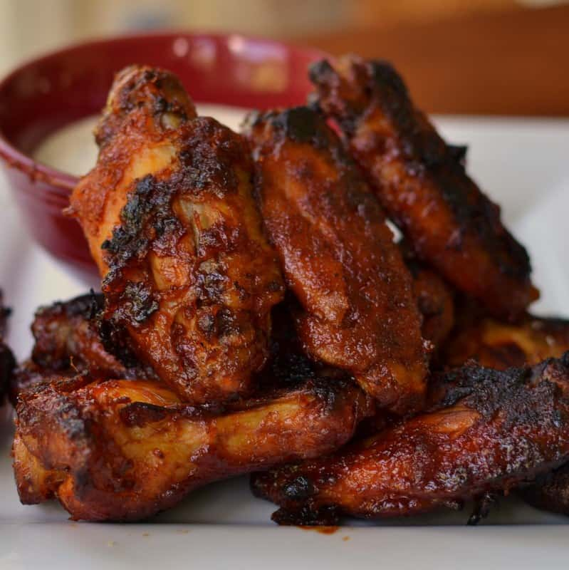 these honey sriracha wings are the perfect balance of sweet and spicy