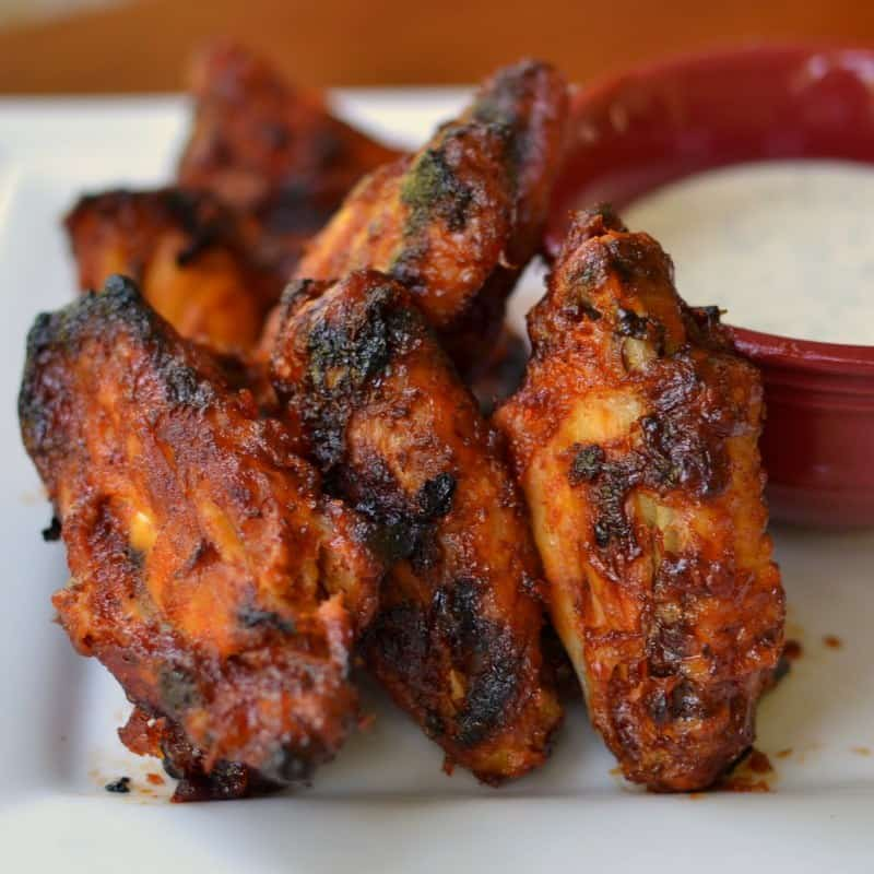 these honey sriracha wings are the perfect game day appetizer