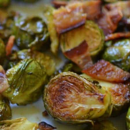 Roasted Honey Mustard Brussels Sprouts