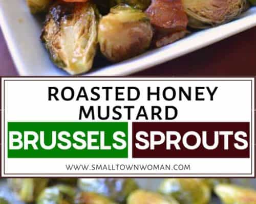 Roasted Honey Mustard Brussels Sprouts with Bacon